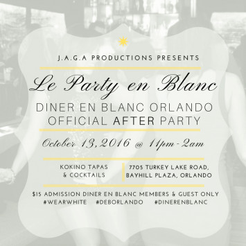 Diner en Blanc After Party will be at Kokino Tapas & Cocktails
