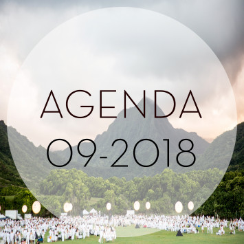 Le Dîner en Blanc – l'agenda de septembre 2018