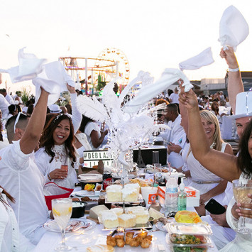 The 6th Edition of Le Dîner en Blanc Los Angeles  Held at the Santa Monica Pier on Oct. 12