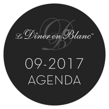 Le Dîner en Blanc - Calendrier septembre 2017