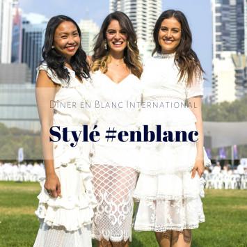 Le Diner en Blanc - Stylé #enblanc